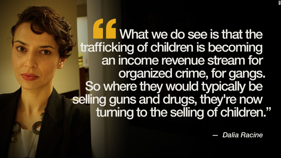 Graphic of a quote about human trafficking