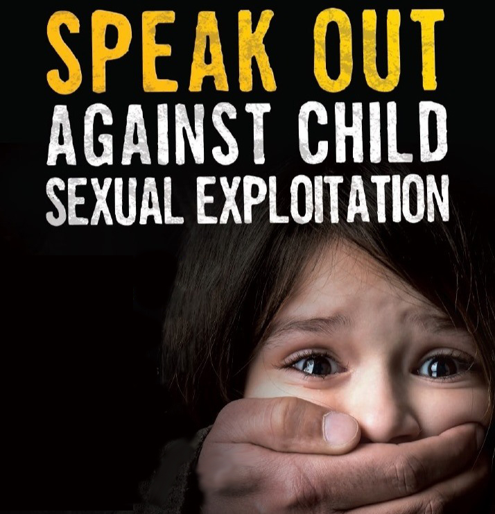 against child sex exploitation poster graphic