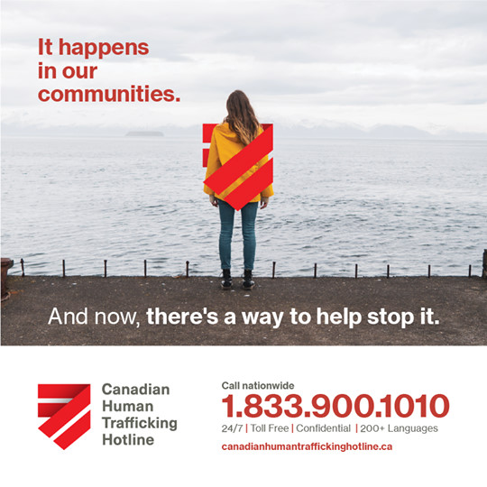 Canadian Human Trafficking Hotline print ad