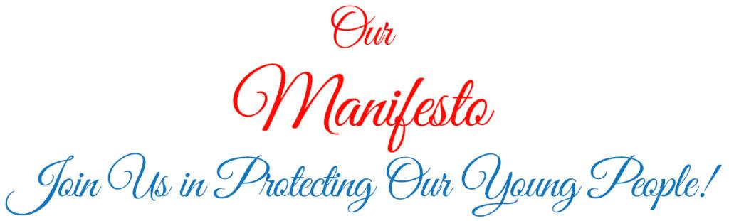 Our Manifesto header text