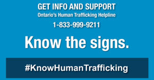 Graphic for Ontario's Human Trafficking Hotline